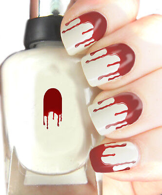 Blood Drop Halloween - Nail Art Decal Wrap, easy to use on any colour nail.281 - Halloween Easy Nails