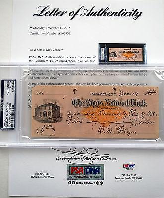 Admiral William M. Folger Autograph Civil War Spanish War PSA/DNA WWI NAVY HERO
