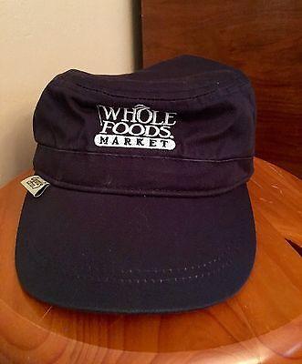 Whole Foods Market Virginia Beach Navy Blue Adjustable Hat Organic Cotton