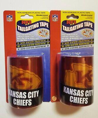 KANSAS CITY CHIEFS  NFL Caution Tailgating Tape *2 PACK* 100 Ft HALLOWEEN PARTY - Halloween Kansas City