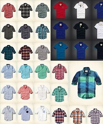NWT HOLLISTER By Abercrombie Men Slim Fit  Classic, Oxford , Plaid shirts & POLO