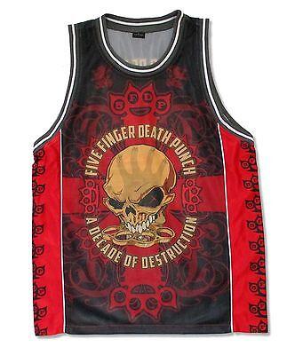 Five Finger Death Punch Bonehead Red Basketball Jersey Shirt Mens New