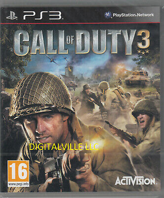 Call of Duty 3 PS3 Sony PlayStation 3 Brand New Factory Sealed Black Label