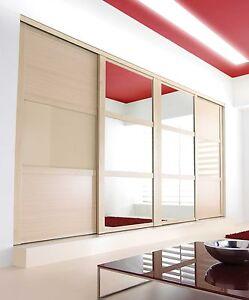 Sliding wardrobe doors shaker 4 door h2260mm for Multi panel sliding glass doors