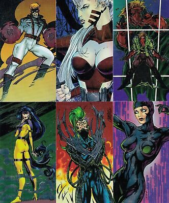 WILDCATS CHROMIUM 1994 WILDSTORM COMPLETE WIDEVISION BASE CARD SET OF 96 MC