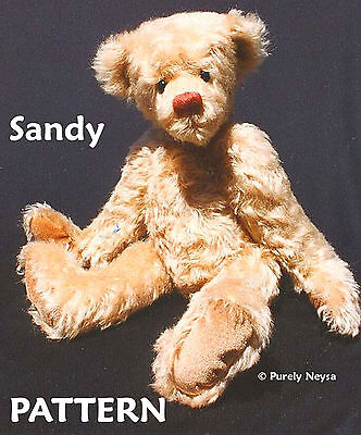 """Mohair or Plush """"Sandy""""  a Bear PATTERN by Neysa A. Phillippi of Purely Neysa"""