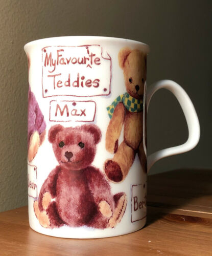 discontinued vintage roy kirkham pottery my favorite teddy teddies porcelain mug