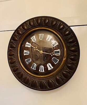 Sublime Antique Hand carved French Morbier Provincial 8 day wall clock