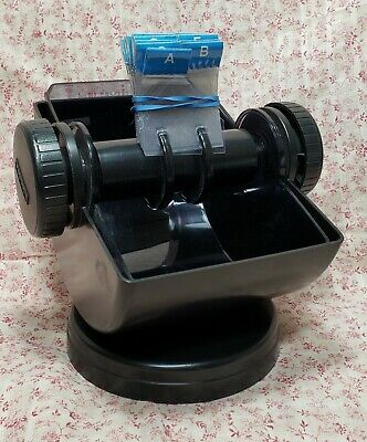 Vintage Rolodex Card Filing System Model No. Nsw-24c With Cards Swivel Base Usa