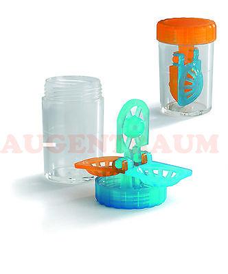 Kontaktlinsenbehälter für weiche Kontaktlinsen 2 Stück Neu vom Optiker