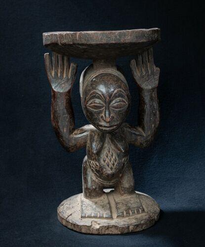 Luba, Caryatid Stool, D.R. Congo, Central African Tribal Arts