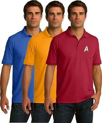 Star Trek Golf Polo Shirt - Embroidered -  3 colors - Sm thru 6XL