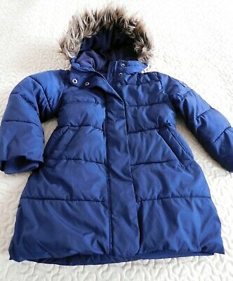 Girls GAP Navy Puffer Padded long Jacket Coat size 4-5 years