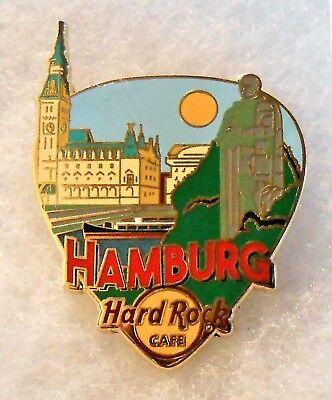HARD ROCK CAFE HAMBURG GREETINGS FROM GUITAR PICK SERIES PIN # 95635