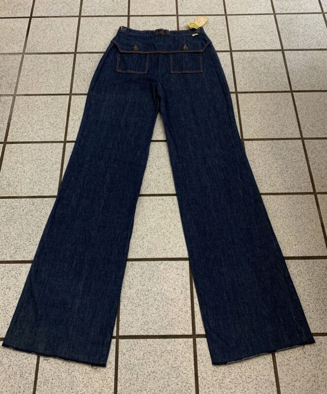 Vintage Girls Jeans TURTLE BAX Hippie Disco Bell Bottom 1970s NEW 15 / 16 Tall