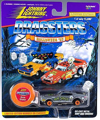 Johnny Lightning Dragsters Halloween '97 Bone Shaker Silver New On Card 1997 (Halloween Shaker Cards)