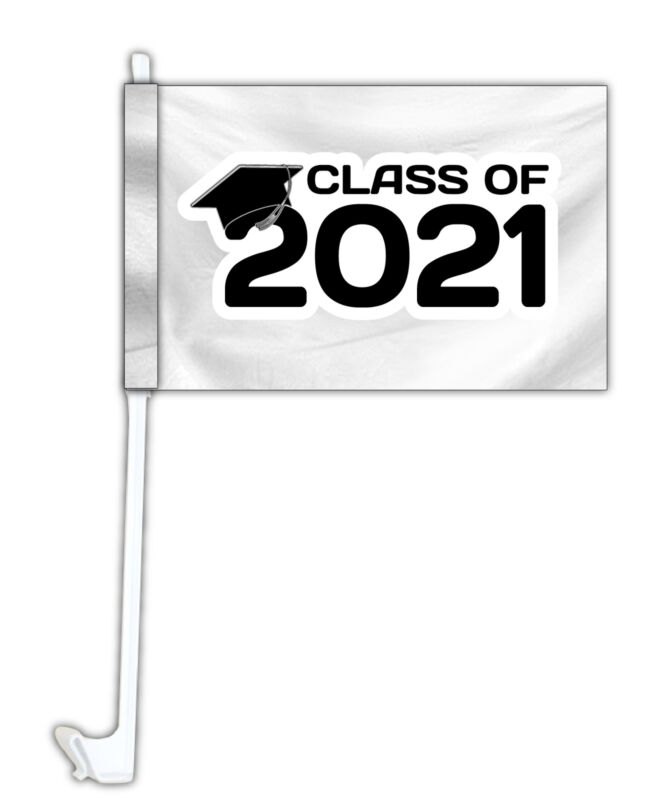 R and R Imports Class of 2021 Graduation Car Flag Set of 2