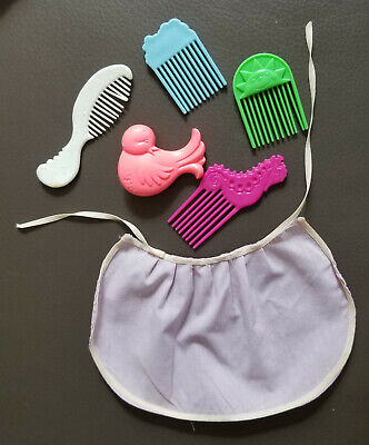 1980's Vintage - My Little Pony - Lavendar Cape and assorted combs