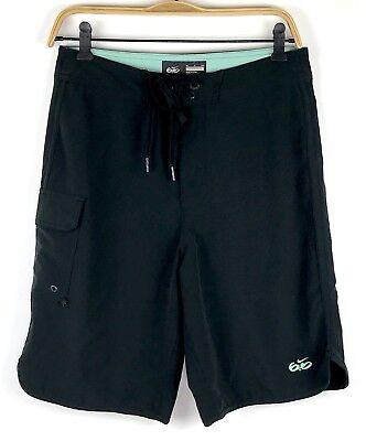 Nike Better World Mens Board Shorts Size 28 Black Pocket Stretch Swim