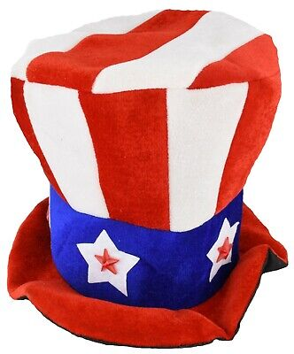 Uncle Sam Flashing Patriotic Hat with LED Lights for 4th of July Party Favors (Uncle Sam Party)