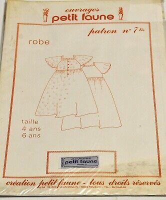 PATRON PETIT FAUNE N° 7bis ROBE 4-6 ANS