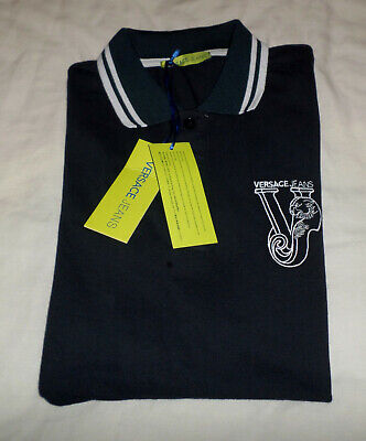 Versace Jeans Polo shirt. Brand New with tags navy blue size 46- S