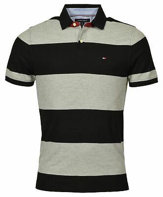 Tommy Hilfiger Men's Regular Fit Wide Striped Polo Shirt