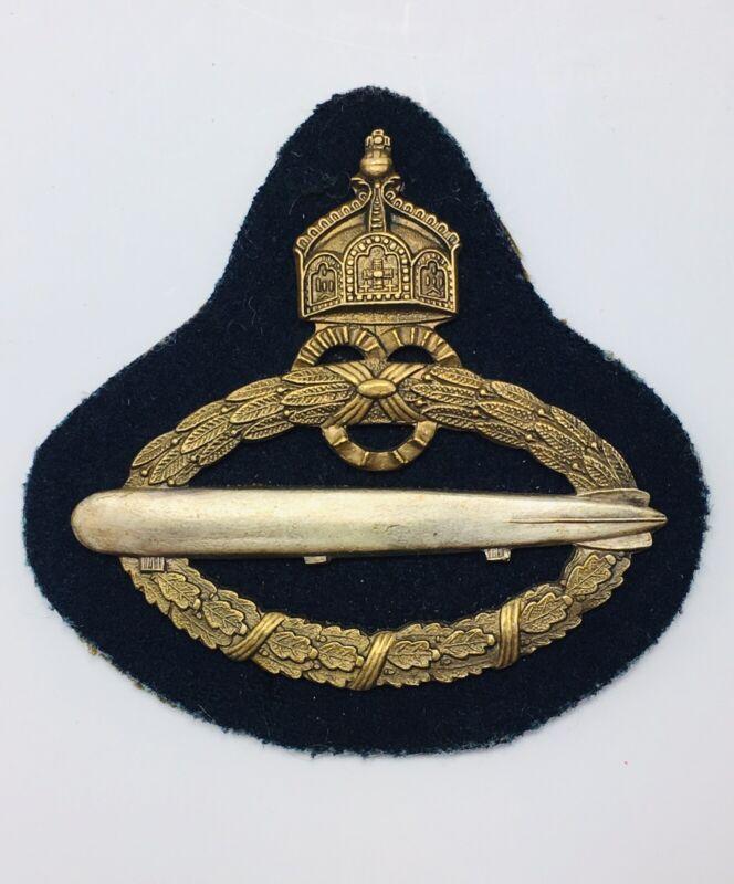 Imperial German Airship / Dirigible Zeppelin Navy Captain Badge 1921 Original