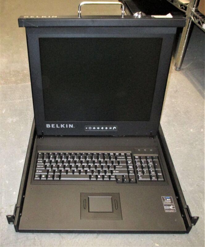 """BELKIN F1DC101P-SR 17"""" LCD Monitor Rack-Mount Console"""