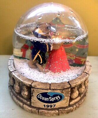 Disney's 1997 Belle Beauty & The Beast Snowglobe Enchanted Christmas Ocean Spray