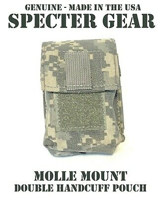 SPECTER GEAR 391 ACU MOLLE MOUNT DOUBLE HANDCUFF CASE US MILITARY POUCH SWAT LEO