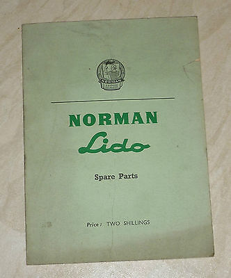 NORMAN LIDO ILLUSTRATED SPARE PARTS LIST BOOKLET (MOPED MOTOR BIKE)