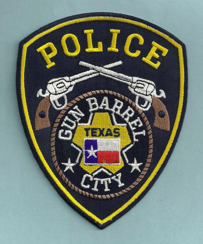 GUN BARREL CITY TEXAS POLICE SHOULDER PATCH