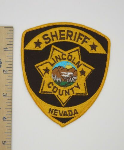 LINCOLN COUNTY NEVADA SHERIFF PATCH Vintage Original