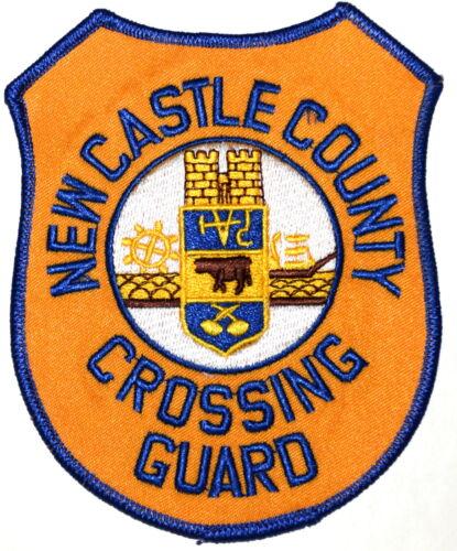 NEW CASTLE COUNTY – CROSSING GUARD – DELAWARE DE Police Sheriff Patch SHIP WHEEL
