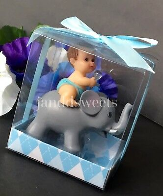 1PCS Baby Shower Favors Party Decoration Its A Baby Boy Blue Elephant