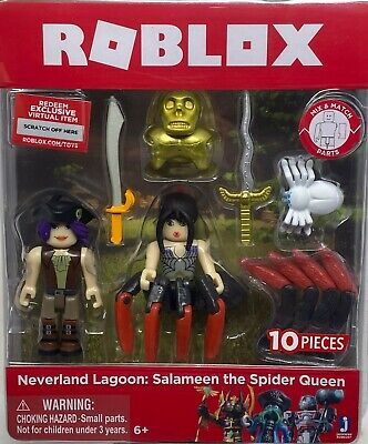 SALAMEEN THE SPIDER QUEEN 10 Pc EXCLUSIVE CODE NEW Roblox NEVERLAND LAGOON