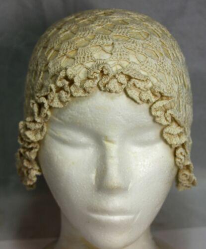 Antique Vintage Hand Sewn Linen Cap