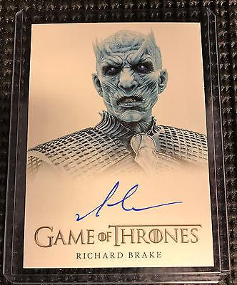 Richard Brake - Game of Thrones Season 6 Autograph Card Rittenhouse - Night King