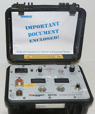 Megger Mit30 30-kv High Voltage Insulation Tester