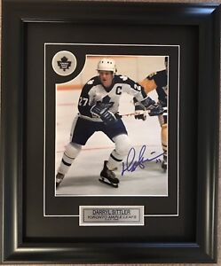 Darryl Sittler Toronto Maple Leafs Photo Framed Autographed