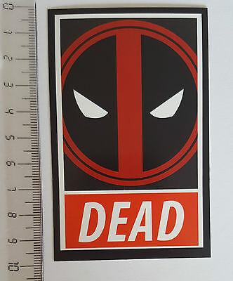 "*** Marvel - Deadpool Sticker - Comic - Superhelden Aufkleber - ""Dead""  ***"