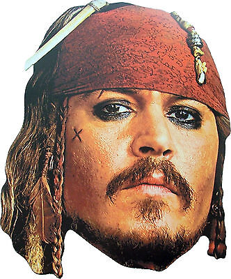 CAPTAIN JACK SPARROW - CARD MASK - LICENSED PRODUCT - PIRATES OF THE CARIBBEAN