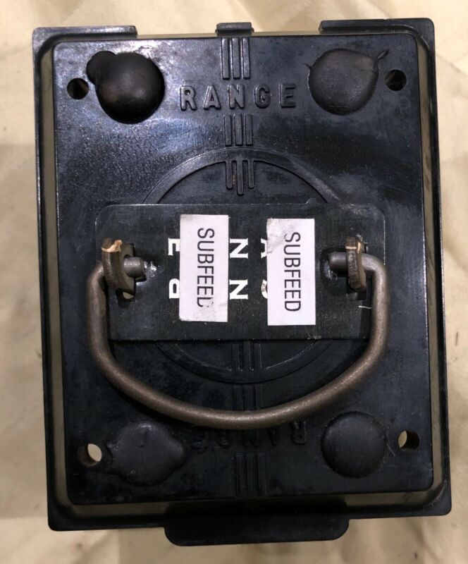 Federal Pacific No Ark Fuse Pullout Lid 60 Amp