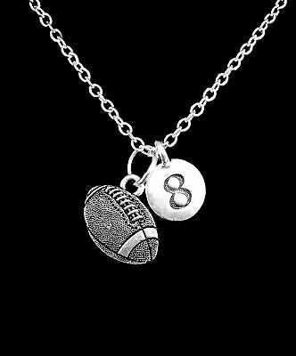 Sports Mom Charm - Football Necklace Choose Number Sports Gift Mom Charm