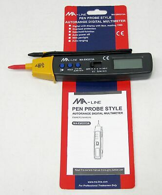 Ma-line Pen Probe Style Autorange Digital Multimeter Ma-em3213a