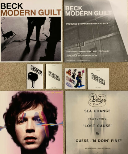 Lot of 4 Beck promo posters stickers Modern Guilt Sea Sea Change The Information