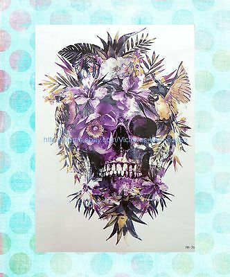 Makeup Skin sugar skull death floral extra large 8.25