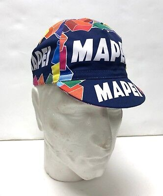 7f3ee2e39215e Mapei Vintage Professional Team Cycling Cap - Made in Italy by Apis