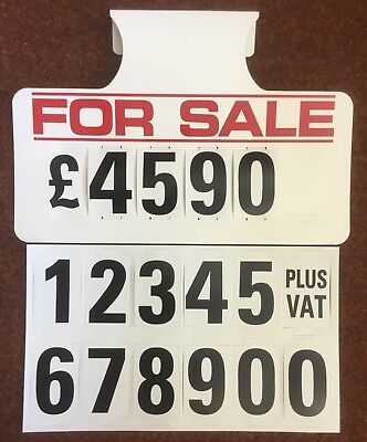 20 X FOR SALE VISOR PRICE SETS, CAR FOR SALE SIGNS, BOARDS, AUTO, VANS
